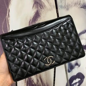 Small Ballerine Quilted Flap Bag (98% New)